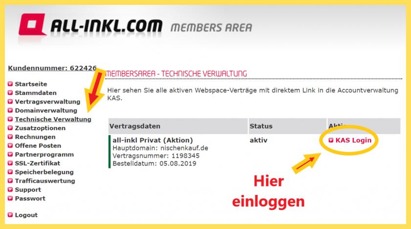 Wordpress unter Allinkl installieren - 5 Schritte Bilder Anleitung 9