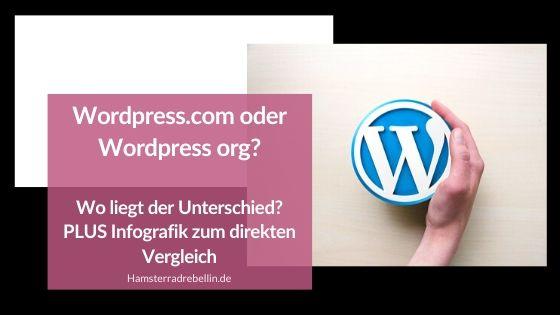 Wordpress.com oder Wordpress.org - Beitragsbild