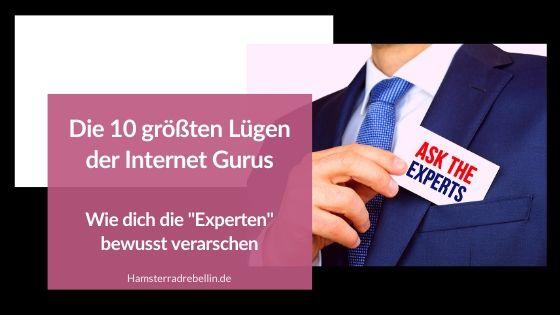 Online Guru Lügen - Beitragsbild