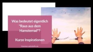 Raus aus dem Hamsterrad - Beitragsbild