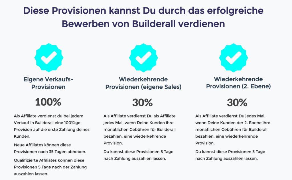Builderall 3.0 Affiliate Provisionen
